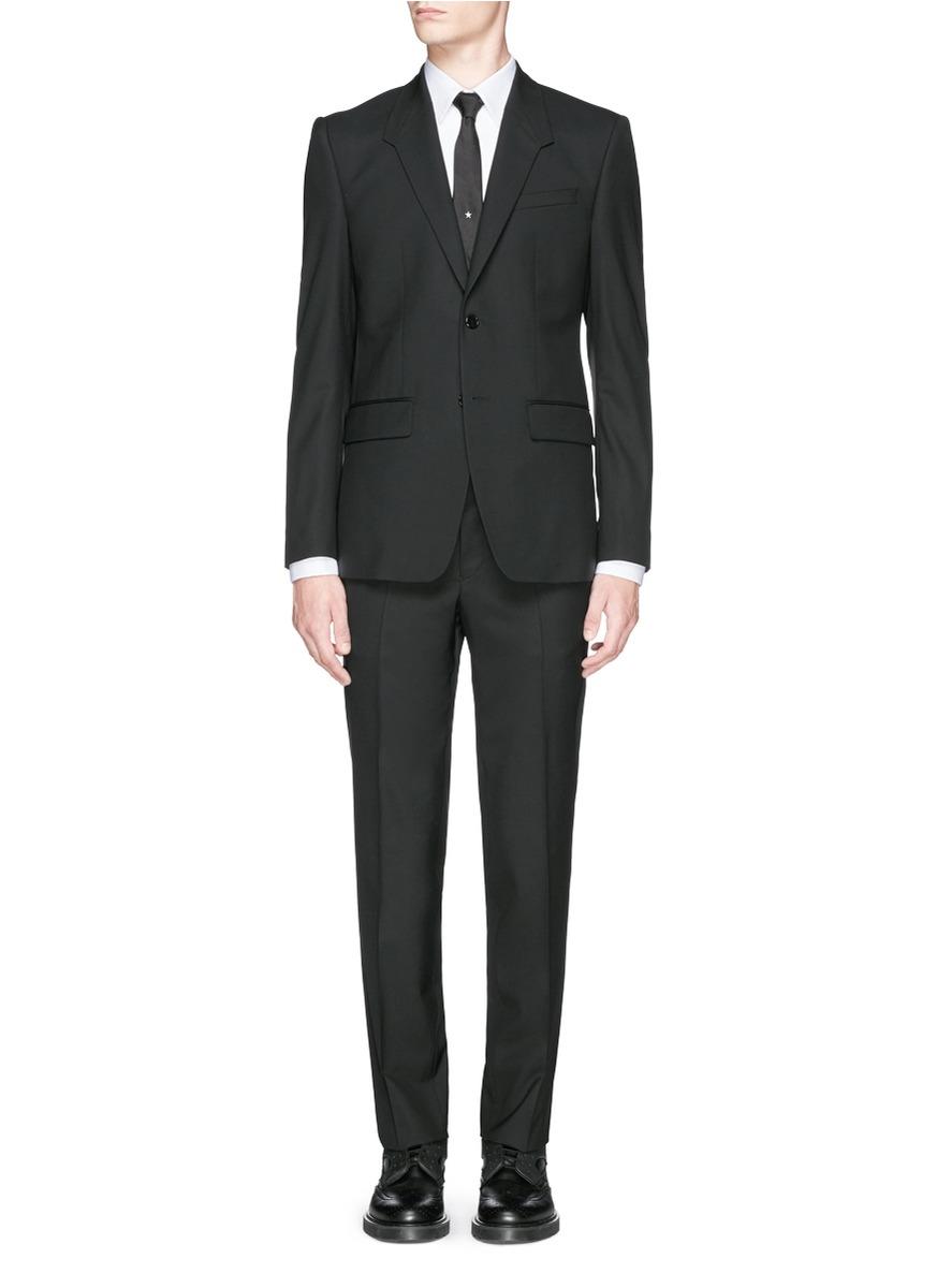 Wool-Mohair Two-Button Tuxedo - Black Size 48 Eu