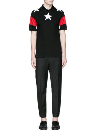 Figure View - Click To Enlarge - Givenchy Beauty - Star appliqué colourblock polo shirt