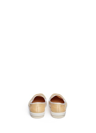 Back View - Click To Enlarge - RIVIERAS - 'Montecristi Blanc' raffia skate slip-ons