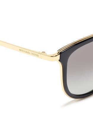 Detail View - Click To Enlarge - Michael Kors - 'Adrianna I' inset acetate rim metal mirror sunglasses