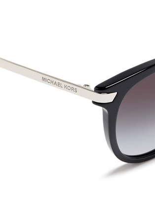 Detail View - Click To Enlarge - Michael Kors - 'Adrianna III' keyhole bridge acetate round sunglasses