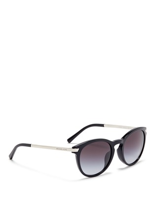 Figure View - Click To Enlarge - Michael Kors - 'Adrianna III' keyhole bridge acetate round sunglasses