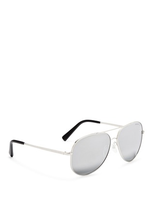 Figure View - Click To Enlarge - Michael Kors - 'Kendall I' metal aviator mirror sunglasses