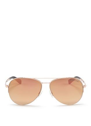 Main View - Click To Enlarge - Michael Kors - 'Gramercy' aviator mirror sunglasses