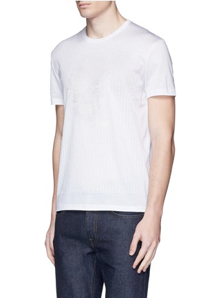 Front View - Click To Enlarge - Alexander McQueen - Skull stitch embroidery T-shirt