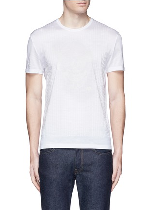 Main View - Click To Enlarge - Alexander McQueen - Skull stitch embroidery T-shirt