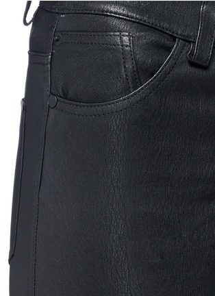Detail View - Click To Enlarge - alice + olivia - Lambskin leather bell bottom pants