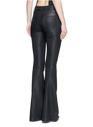 Back View - Click To Enlarge - alice + olivia - Lambskin leather bell bottom pants