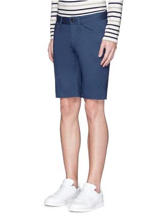 Front View - Click To Enlarge - DENHAM - 'Razor' cotton shorts