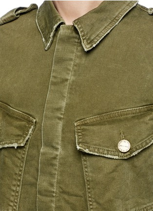 Detail View - Click To Enlarge - CURRENT/ELLIOTT - Distressed denim military jacket