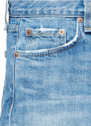 Detail View - Click To Enlarge - RAG & BONE/JEAN - 'Marilyn Fly' denim shorts