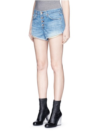 Front View - Click To Enlarge - RAG & BONE/JEAN - 'Marilyn Fly' denim shorts