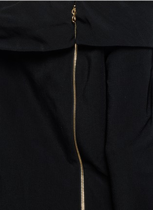 Detail View - Click To Enlarge - Lanvin - Fold off-shoulder twill dress