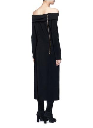 Back View - Click To Enlarge - Lanvin - Fold off-shoulder twill dress