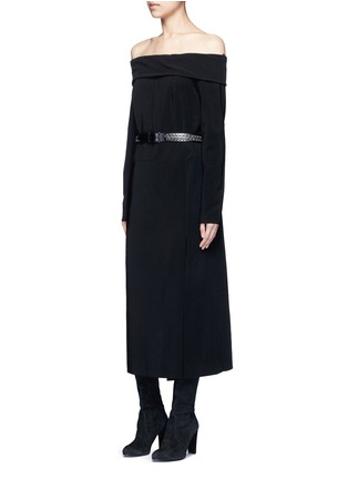 Figure View - Click To Enlarge - Lanvin - Fold off-shoulder twill dress