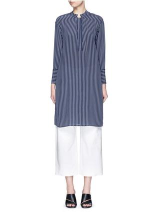 Main View - Click To Enlarge - Equipment - 'Blaine' stripe long silk shirt dress