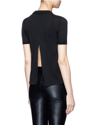 Back View - Click To Enlarge - Isabel Marant - 'Clap' split back short sleeve sweater