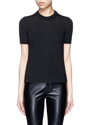 Main View - Click To Enlarge - Isabel Marant - 'Clap' split back short sleeve sweater