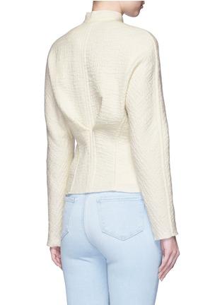 Back View - Click To Enlarge - Isabel Marant - 'Linda' high collar virgin wool jacket