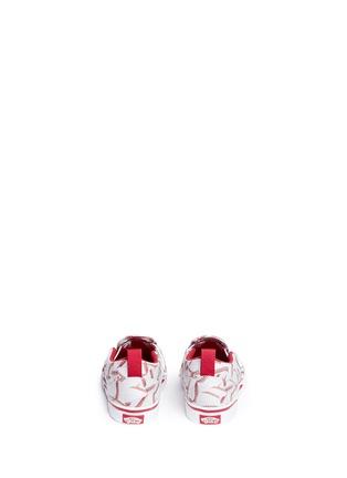 Back View - Click To Enlarge - Vans - 'Slip-on V Sports' baseball print toddler skate shoes