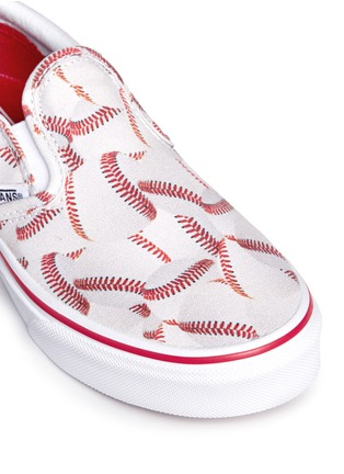 Detail View - Click To Enlarge - Vans - 'Sports Classic' baseball print kids slip-ons