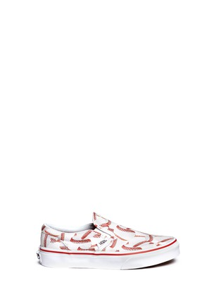 Main View - Click To Enlarge - Vans - 'Sports Classic' baseball print kids slip-ons