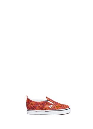 Main View - Click To Enlarge - Vans - 'Slip-on V Sports' basketball print toddler skate shoes