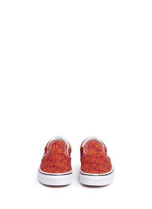 Figure View - Click To Enlarge - Vans - 'Classic Sports' basketball print canvas kids slip-ons
