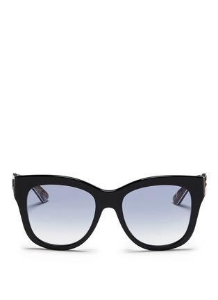 Main View - Click To Enlarge - Dolce & Gabbana - Sicilian Carretto print interior acetate oversize sunglasses