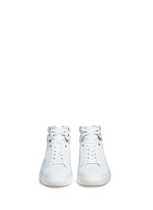 Front View - Click To Enlarge - - - Leather high top sneakers