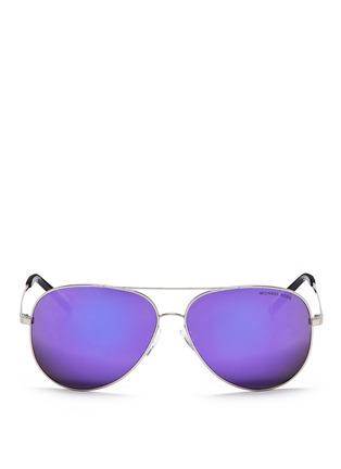 Main View - Click To Enlarge - MICHAEL KORS - 'Kendall I' metal aviator mirror sunglasses