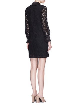 Back View - Click To Enlarge - Gucci - Cluny lace satin trim dress