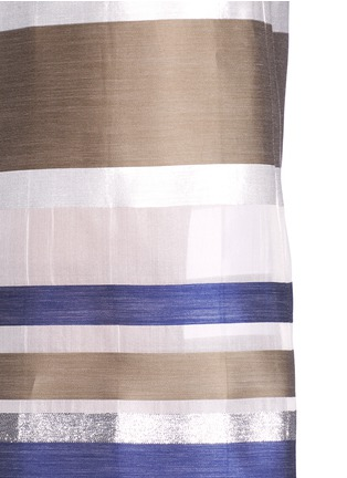 Detail View - Click To Enlarge - ERIKA CAVALLINI - 'Keit' multi stripe silk blend culottes