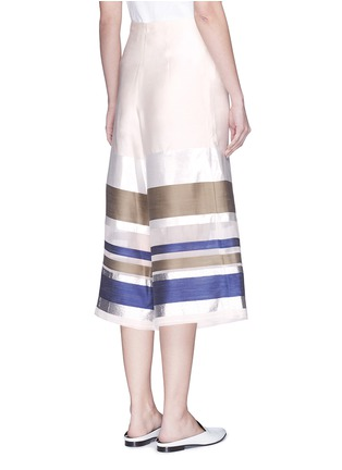 Back View - Click To Enlarge - ERIKA CAVALLINI - 'Keit' multi stripe silk blend culottes