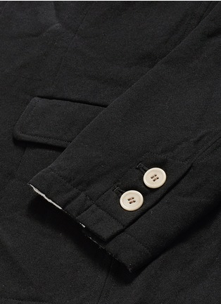 Detail View - Click To Enlarge - Johnundercover - Contrast trim chevron stripe blazer