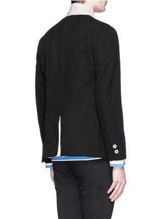 Back View - Click To Enlarge - Johnundercover - Contrast trim chevron stripe blazer