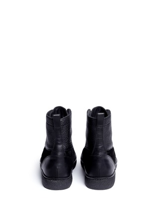Back View - Click To Enlarge - ALEXANDER WANG - 'Eden' leather and suede high top sneakers
