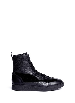 Main View - Click To Enlarge - ALEXANDER WANG - 'Eden' leather and suede high top sneakers