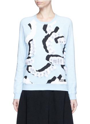 Main View - Click To Enlarge - KENZO - 'Curvy Lines' embellished sweatshirt