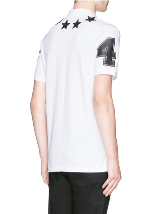 Back View - Click To Enlarge - Givenchy - Star appliqué polo shirt