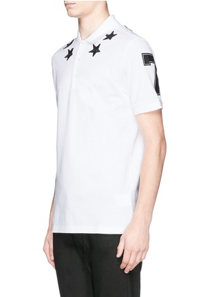 Front View - Click To Enlarge - Givenchy - Star appliqué polo shirt