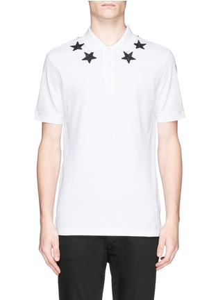 Main View - Click To Enlarge - Givenchy - Star appliqué polo shirt