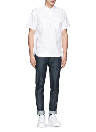 Front View - Click To Enlarge - Acne Studios - 'Max Raw' cotton slim fit jeans