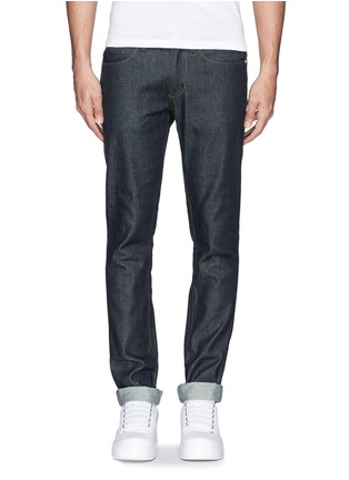 Main View - Click To Enlarge - Acne Studios - 'Max Raw' cotton slim fit jeans