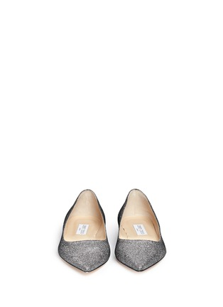 Front View - Click To Enlarge - Jimmy Choo - 'Alina' lamé glitter flats