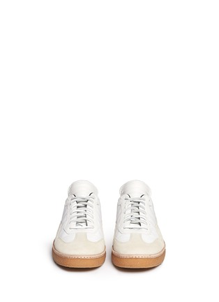 Front View - Click To Enlarge - ALEXANDER WANG - 'Eden' leather and suede low top sneakers