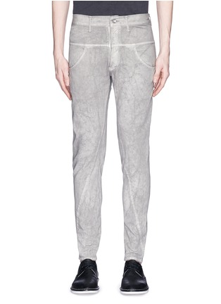 Main View - Click To Enlarge - The Viridi-anne - Cold dye twill slim fit pants