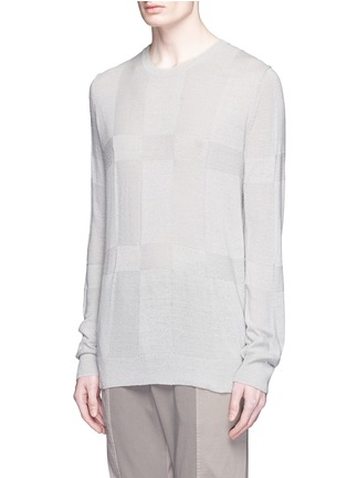 Front View - Click To Enlarge - The Viridi-anne - Speckled silk sweater