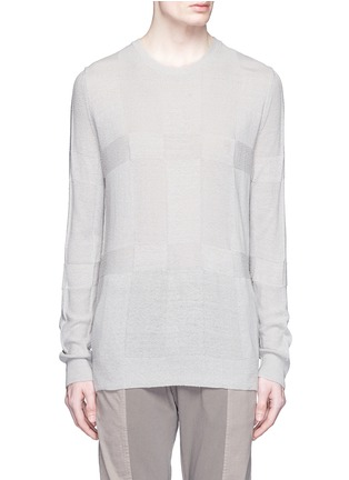 Main View - Click To Enlarge - The Viridi-anne - Speckled silk sweater