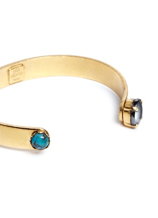 Detail View - Click To Enlarge - Ela Stone - 'Liadana' turquoise hematite stone cuff